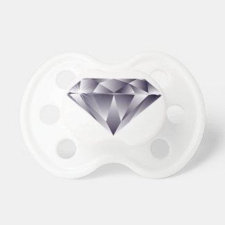 Pacificador del solitario del diamante chupetes de bebe