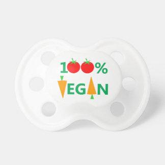 Pacificador del vegetariano del vegano del bebé chupetes de bebe