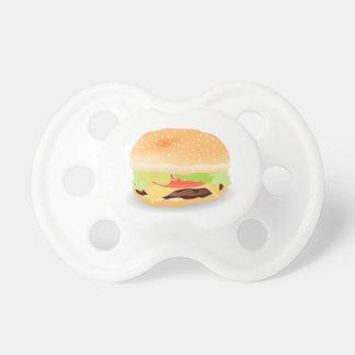Pacificador delicioso del bebé de la hamburguesa chupetes de bebé