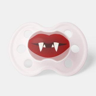 Pacificador divertido de los colmillos del vampiro chupetes para bebés