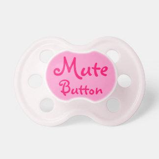 pacificador divertido del botón enmudecedor chupete de bebe