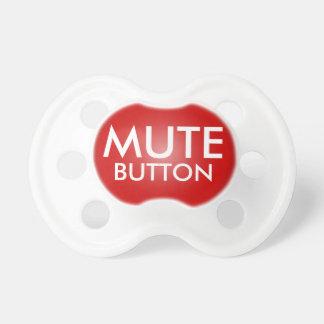Pacificador divertido del botón enmudecedor rojo p chupete de bebé