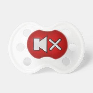 Pacificador divertido del botón mudo del volumen chupetes para bebés