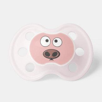 Pacificador divertido del cerdo chupetes para bebés