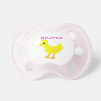 Pacificador Ducky de goma del chica del bebé CONOC Chupetes Para Bebés