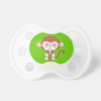 Pacificador enojado del mono del científico chupetes de bebe