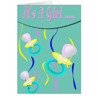 Pacificador es un chica tarjeta de felicitación