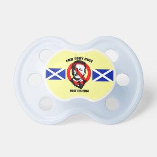 Pacificador escocés de la independencia de la regl chupete de bebé