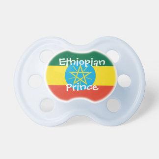 Pacificador etíope del príncipe chupete de bebé