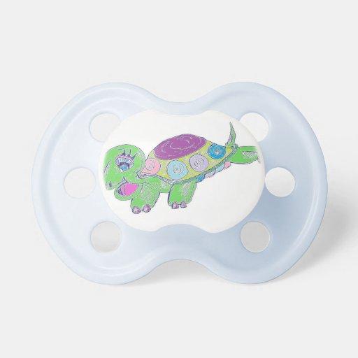 Pacificador feliz de la tortuga chupetes de bebe