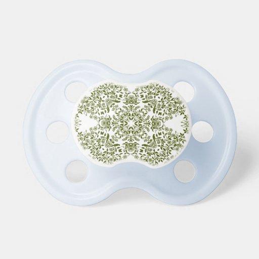 Pacificador floral del bebé de las vides del jardí chupetes para bebés