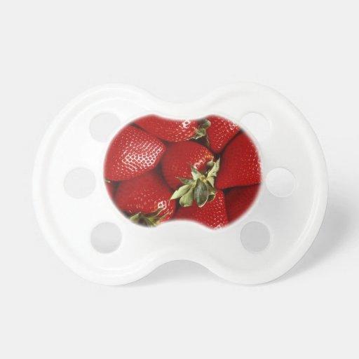 Pacificador fresco del bebé de las fresas chupetes para bebés