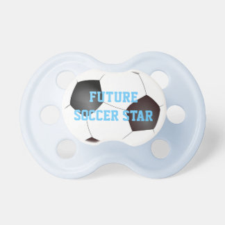 Pacificador futuro del bebé de la estrella de fútb chupete de bebé