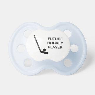 Pacificador futuro del bebé del jugador de hockey chupete