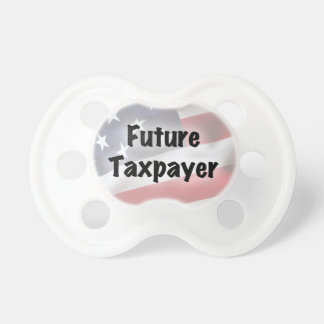Pacificador futuro del contribuyente chupete de bebe