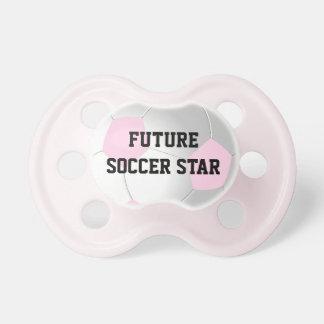Pacificador futuro rosado del bebé de la estrella  chupete de bebé