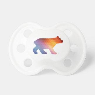 Pacificador geométrico del 🐻 del oso del bebé chupetes para bebés