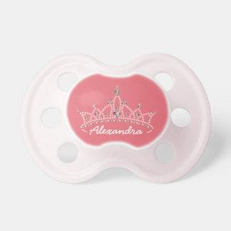 Pacificador gráfico del bebé de la tiara del diama chupetes
