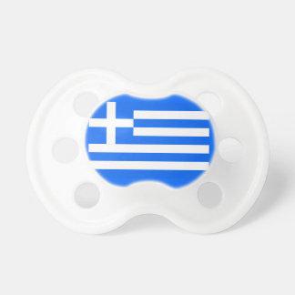 Pacificador griego de la bandera chupetes de bebe