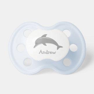 Pacificador gris lindo conocido personalizado del chupetes de bebé