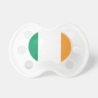 Pacificador irlandés del bebé de la bandera chupete de bebé