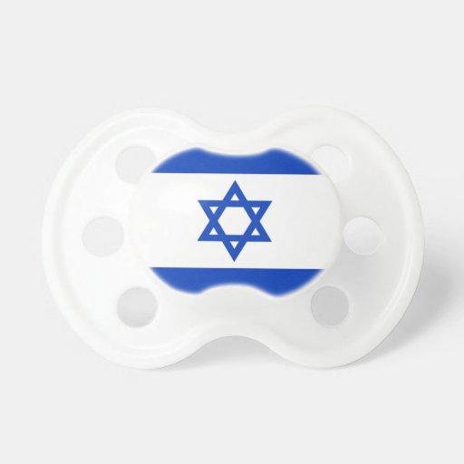 Pacificador israelí del bebé de la bandera chupetes para bebes