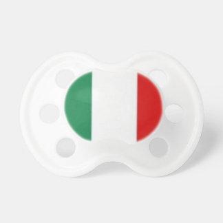 Pacificador italiano de la bandera chupete de bebé
