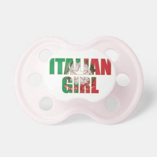 Pacificador italiano del niño del chica chupetes para bebés