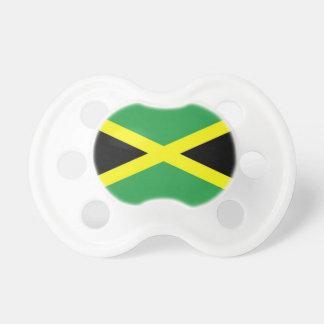 Pacificador jamaicano del bebé de la bandera chupete de bebé