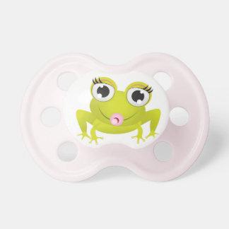 Pacificador lindo de la rana chupetes para bebés
