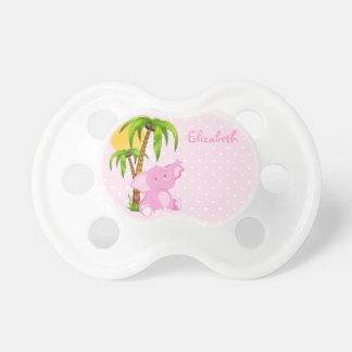 Pacificador lindo de los lunares del rosa del chupetes de bebé