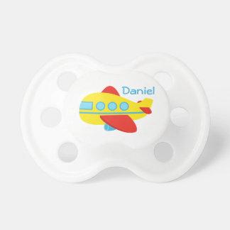 Pacificador lindo del bebé del avión del pasajero chupetes de bebé