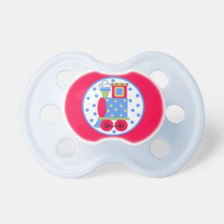 Pacificador lindo del bebé del motor del tren del  chupetes de bebe