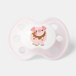 Pacificador lindo del cerdo del dibujo animado del chupetes para bebés