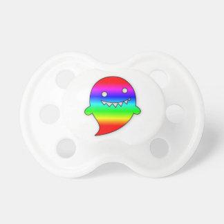Pacificador lindo del fantasma del arco iris chupetes de bebé