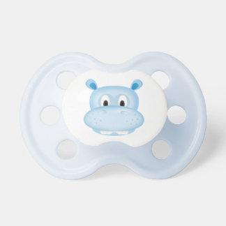 Pacificador lindo del hipopótamo chupete de bebe