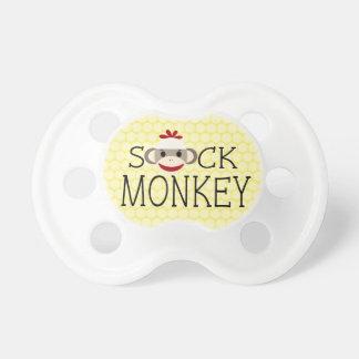 Pacificador lindo del mono del calcetín chupete de bebé