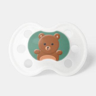 Pacificador lindo del oso de peluche chupetes de bebé