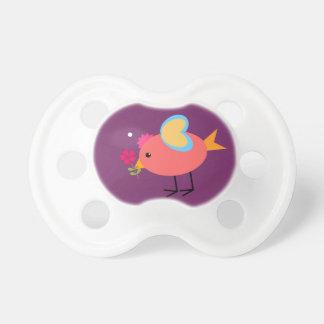 Pacificador moderno de la niña del pájaro lindo de chupetes de bebé