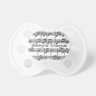 Pacificador musical del diseño chupetes para bebes