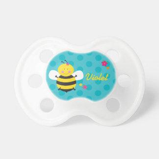 Pacificador personalizado abeja linda del bebé chupete de bebe