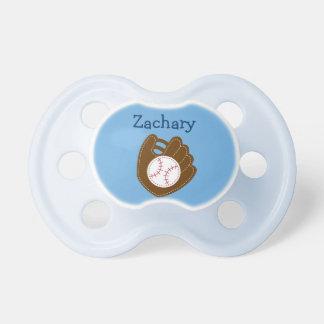Pacificador personalizado bebé del béisbol chupetes de bebé