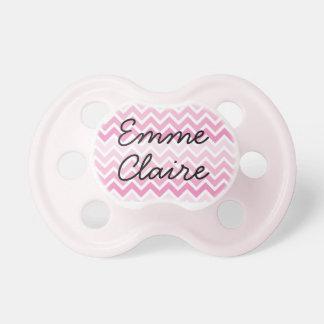 Pacificador personalizado chica rosado del bebé de chupetes de bebe
