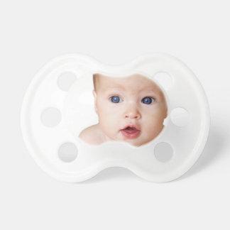 Pacificador personalizado de la foto del bebé chupetes