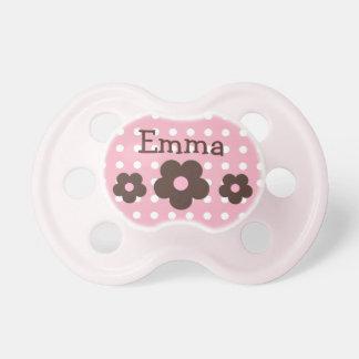 Pacificador personalizado de los puntos y de las chupetes para bebés
