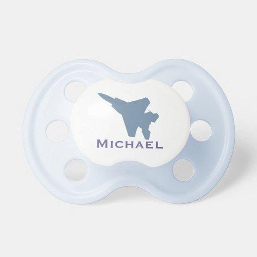 Pacificador personalizado del avión de combate chupetes de bebé