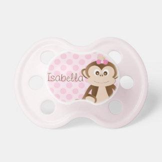 Pacificador personalizado del bebé del mono chupete de bebé