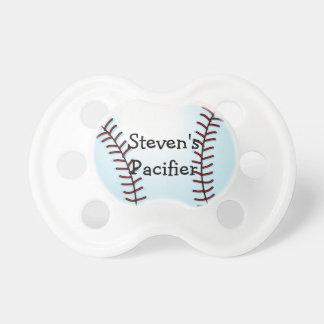 Pacificador personalizado del béisbol chupetes para bebés