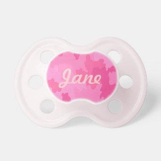 Pacificador personalizado del camuflaje de las chupetes para bebés