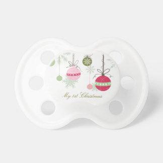 Pacificador personalizado del navidad chupetes de bebé
